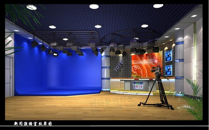 新聞演播室燈光設計,虛擬演播室燈光
