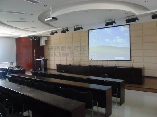 多功能会议室厅灯光装修案例