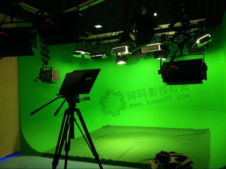 西双版纳报社虚拟演播室灯光工程