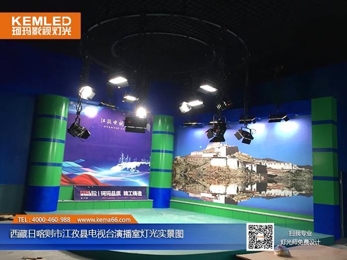 170㎡電視臺新聞演播室燈光設計方案