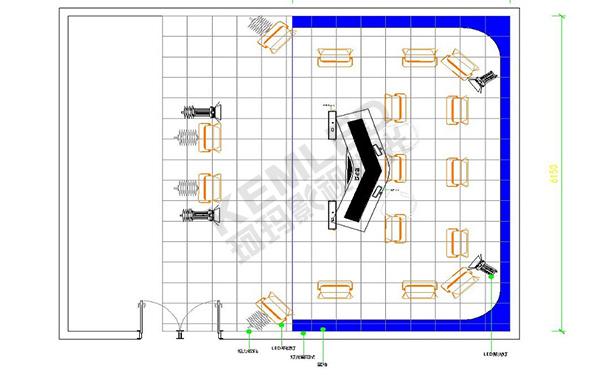 KEMLED 珂玛 兰州融媒体中心演播室CAD灯光布置图