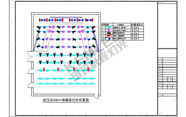 KEMLED 珂玛 武汉广播电视台灯光CAD图纸