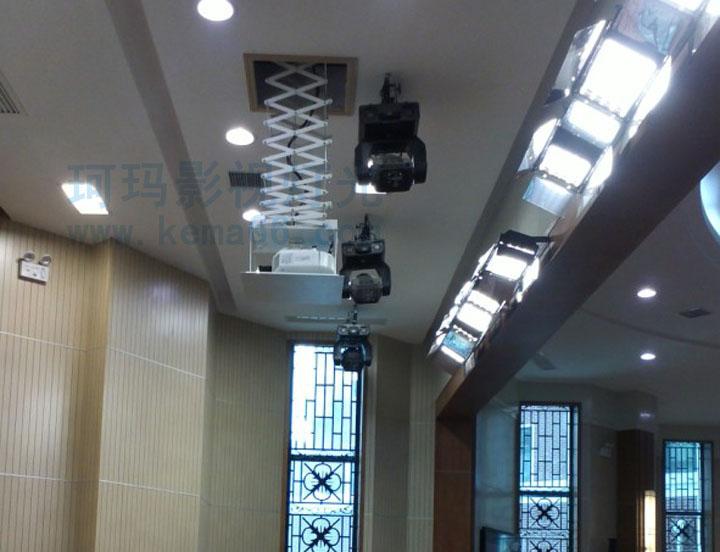 华中师范科学会堂会议室灯光工程