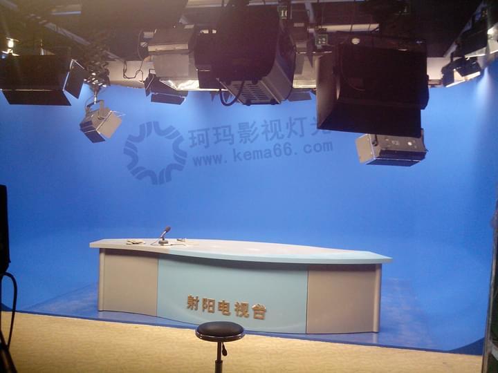 江苏射阳电视台虚拟演播室灯光工程