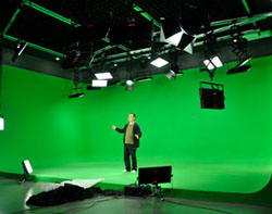 湖南长沙电视台政法频道虚拟演播室灯光工程
