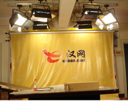 长江日报30平米报社演播室设计工程