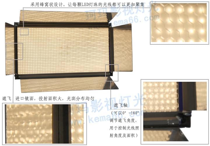 LED演播室灯具CM-LED1512正面