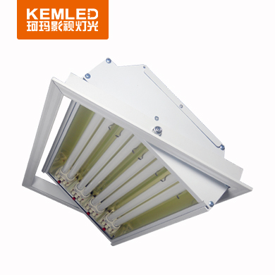 会议室三基色冷/柔光灯DSR-4×36W(长方形手动可调角度)